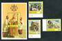 ST LUCIA 1986 Visit of Pope Jean-Paul 2. Set of 3 and miniature sheet. - 52334 - UHM