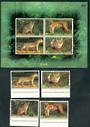 THAILAND 1998 Wild Cats. Set of 4 and miniature sheet. - 52346 - UHM