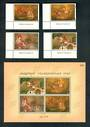 THAILAND 1998 Visakhapuja Day. Set of 4 and miniature sheet. - 52347 - UHM