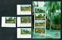 THAILAND 1997 Thaipex '97 International Stamp Exhibition. Traditional Houses. Set of 4 and miniature sheet. - 52349 - UHM