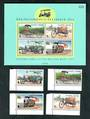 THAILAND 1997 International Letter Writing Week. Set of 4 and miniature sheet. Superb set of Thailand Transport. - 52355 - UHM