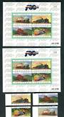 THAILAND 1997 Centenary of Thailand Railways. Set of 4 and 2 miniature sheets. - 52357 - UHM