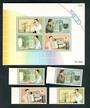 THAILAND 1997 Telecom. Set of 4 and miniature sheet. - 52361 - UHM