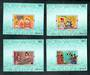 THAILAND 1997 Asalhapuja Day. Set of 4  miniature sheets. - 52364 - UHM