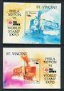 ST VINCENT 1991 Phila Nippon '91 International Stamp Exhibition. Two miniature sheets. - 52382 - UHM