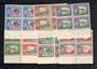 DOMINICA 1938 Geo 6th Definitives. ½d 1d 1½d 2d 2½d 3d and 6d in nice clean blocks of 4. Nice display items. - 52402 - UHM