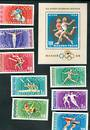 HUNGARY 1968 Olympics. Set of 8 and miniature sheet. - 52428 - UHM