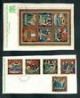 COOK ISLANDS 1970 Christmas. Set of 5 and miniature sheet. - 52448 - VFU