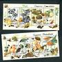ROUMANIA 1994 Edible and Poisonous Fungi. 2 miniature sheets. - 52469 - FU
