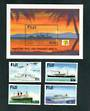 FIJI 1999 Maritime Past and Present. Second series. Set of 4 and miniature sheet. - 52494 - UHM