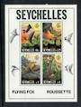 SEYCHELLES 1982 Flying Fox. Miniature sheet. - 52495 - LHM