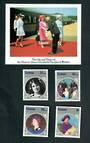 SAMOA 1985 Life and Times of Queen Elizabeth the Queen Mother. Set of 4 and miniature sheet. - 52538 - UHM