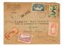SENEGAL 1944 Registered Airmail Letter from Dakar to Tunisia. - 537512 - PostalHist