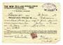 NEW ZEALAND 1940 New Zealand Insurance Receipt with Geo 6th overprint 2d. - 53752 - Fiscal