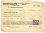 NEW ZEALAND 1941 New Zealand Insurance Receipt with Geo 6th overprint 2d. - 53753 - Fiscal