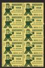 GREAT BRITAIN 1958 Stampex Manchester Labels Yellow and Green. Block of 10. - 55617 - Cinderellas
