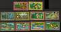 NIUE 1979 Air. Set of 10. Gold frames. - 56104 - UHM