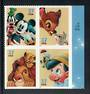 USA 2004 Disney Cartoon Characters. Self Adhesive. Block of 4. - 58136 - UHM