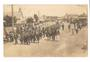 Postcard of the main street of Foxton. Floral hats in aid of the Belgian Relief Fund. Raised over £410. - 69533 - Postcard