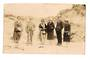 Real Photograph of taken in 1920 of Maori Guide and tour party in Rotorua. . Details on the reverse. - 69607 - Photograph