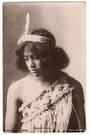 Real Photograph by Armstrong of Maori Girl. T mark (Postage Due) - 69663 - Postcard
