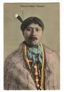 Coloured Postcard of Tatooed Maori Woman. - 69682 - Postcard