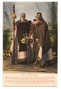 Coloured Postcard of Maoris in Native Costume. - 69698 - Postcard