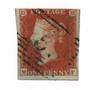 GREAT BRITAIN 1841 1d red. Imperf 4 margins. Blued paper. - 70042 - FU