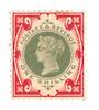 GREAT BRITAIN 1900 Victoria 1st Definitive 1/- Green and Carmine. - 70048 - LHM