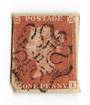 GREAT BRITAIN 1841 1d Red Maltese Obliterator. Number 11. - 70236 - FU