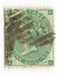 GREAT BRITAIN 1862 1/- Deep Green. Plate 1 Good perfs. Well centred. Cancel heavy. - 70243 - Used