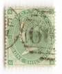 GREAT BRITAIN 1862 1/- Green. Plate 1 Fine used. Light postmark. Centred slightly East. Good perfs.Attractive. - 70244 - FU