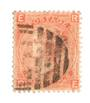 GREAT BRITAIN 1865 4d Vermillion. Plate 8. Well centred. Sound copy. Postmark Bars.Good perfs. - 70246 - Used
