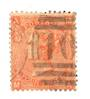 GREAT BRITAIN 1865 4d Vermillion. Plate 10. Centred slightly South. Postmark 10 in bars. Sound copy. - 70248 - Used
