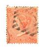 GREAT BRITAIN 1865 4d Vermillion. Plate 12. Diamond postmark. Centred South West. - 70250 - Used