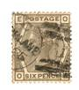 GREAT BRITAIN 1880 6d Grey. Plate 18. Letters EOOE. Slight fold in one corner not obvious from the front. Good perfs. Typical po