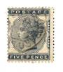 GREAT BRITAIN 1880 5d Indigo. Centred west. Postmark LOMBARD ST clear of profile. Good colour and perfs. - 70312 - FU