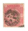 GREAT BRITAIN 1883 5/- Rose. Well centred. Good colour and perfs. Postmark EDINBURGH NPB 17/11/87 cds. Clean strike. Letters FEE