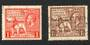 GREAT BRITAIN 1925 Wembly FU. Both stamps off centre - 70329 - FU