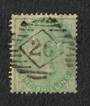 GREAT BRITAIN 1855 1/- Pale Green. Postmark 26 in diamond in bars. Perfs not quite so good. - 70384 - Used