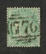 GREAT BRITAIN 1856 1/- Deep Green. Good perfs. Postmark 776 . Well centred. Scarce stamp. - 70409 - FU