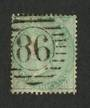 GREAT BRITAIN 1856 1/- Pale Green.Postmark 86 in circle. Slightly off centre. Sound used. - 70411 - Used