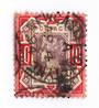 GREAT BRITAIN 1887 Victoria 1st Definitive 10d Dull Purple and Carmine with JKN/C perfin. - 70426 - FU