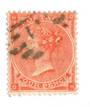 GREAT BRITAIN 1863 4d Pale Red.One nibbled perf at south. Centred slightly north.Good colour. Attractive. Hairlines stand out. -