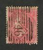 GREAT BRITAIN 1855 4d Rose Carmine. Diamond cancel 46 in bars. Heavy postmark but good colour still shows through. Good perfs. -