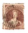 NEW ZEALAND 1862 Full Face Queen 6d Red-Brown. Perf 12½ at Auckland. Watermark NZ. Sound copy. Small crease visible only from ba
