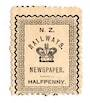 NEW ZEALAND 1890 New Zealand Railway Newspapers 1/2d Black. - 70735 - Mint