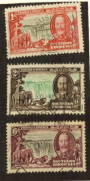 SOUTHERN RHODESIA 1935 Silver Jubilee. Thre values. High catalogue but commercial postmarks. - 71138 - Used