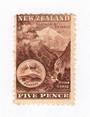 NEW ZEALAND 1898 Pictorial 5d Brown. London Print. - 71293 - LHM
