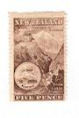NEW ZEALAND 1898 Pictorial 5d Red-Chocolate. London Print. No Watermark. - 71294 - UHM